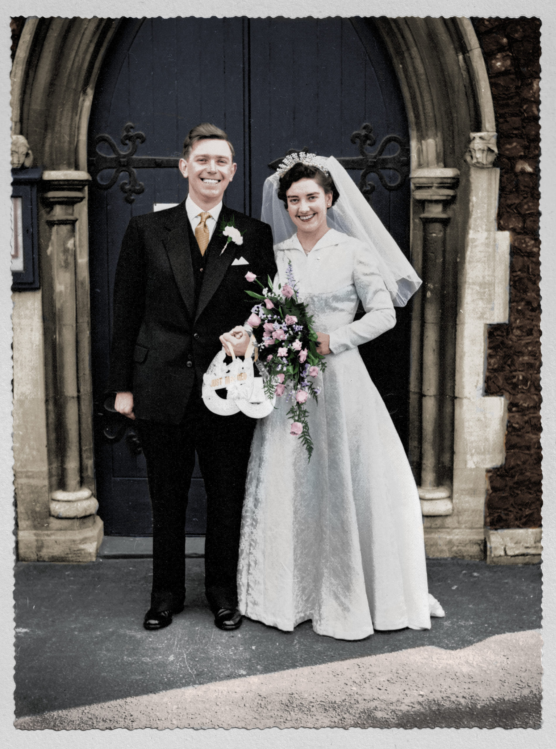 Photo Colourisation - Wedding