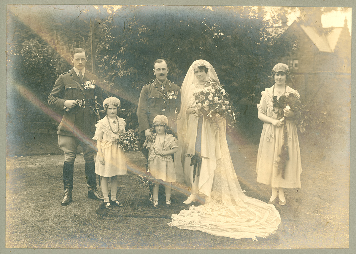 Unrestored Wedding Photo
