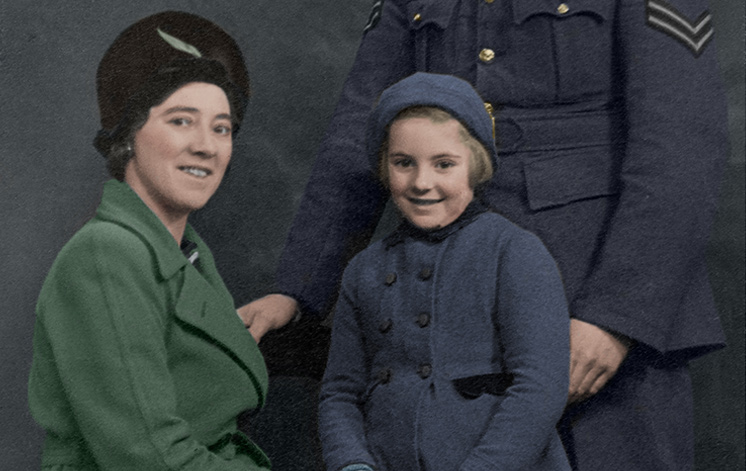 Family Portrait Coloured and Restored