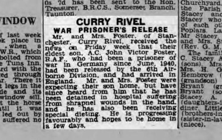 Curry Rivel Prisoner of War - JV FOSTER